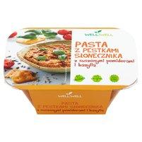 WELL WELL Pasta z pestkami słonecznika z suszonymi pomidorami i bazylią