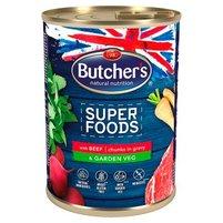 Butcher's Super Foods Karma dla dorosłych psów kawałki w sosie z wołowiną i warzywami 400 g