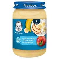 GERBER Jabłka i banany z kremowym twarożkiem dla niemowląt po 6. m-cu