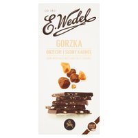 E. WEDEL Premium Czekolada gorzka z orzechami i słonym karmelem