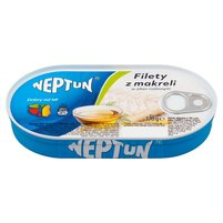 NEPTUN Filety z makreli w oleju roślinnym
