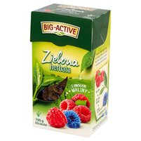 BIG-ACTIVE Herbata zielona z owocem maliny