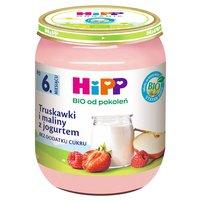 HiPP BIO Owoce & Jogurt Truskawki i maliny z jogurtem po 6. m-cu