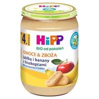 HiPP BIO Owoce & Zboża Jabłka i banany z biszkoptami po 4. m-cu