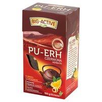 BIG-ACTIVE Pu-Erh Herbata czerwona o smaku cytrynowym liściasta