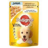 PEDIGREE Vital Protection Junior Karma pełnoporcjowa z kurczakiem i ryżem w galaretce
