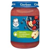 GERBER Jabłuszka z truskawkami i jagodami dla niemowląt po 8. miesiącu