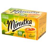 MINUTKA Herbata czarna aromatyzowana o smaku cytryny (40 tb.)