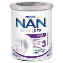 NAN Optipro H.A. 3 Mleko modyfikowane w proszku dla dzieci powyżej 1. roku