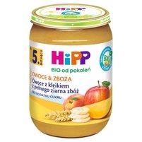 HiPP BIO Owoce & Zboża Owoce z kleikiem z pełnego ziarna zbóż po 5. m-cu
