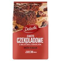 DELECTA Duża Blacha Ciasto czekoladowe z belgijską czekoladą mieszanka do przygotowania ciasta