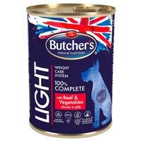 BUTCHER'S Light Karma dla dorosłych psów kawałki w galaretce z wołowiną i warzywami