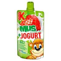 KUBUŚ Mus + Jogurt banan truskawka jabłko