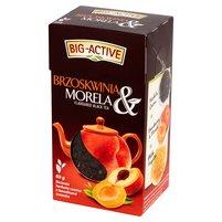 BIG-ACTIVE Brzoskwinia & Morela Liściasta herbata czarna z kawałkami owoców