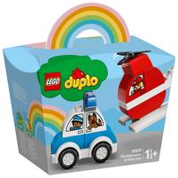 LEGO Duplo My First Helikopter strażacki i radiowóz 10957 (1.5+)