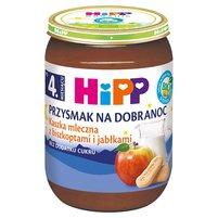 HiPP BIO Przysmak na Dobranoc Kaszka mleczna z biszkoptami i jabłkami po 4. m-cu
