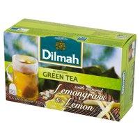 DILMAH Zielona herbata z trawą cytrynową i naturalnym aromatem cytryny (20 tb.)