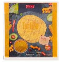 SANDRA Tortilla curry (4 szt.)
