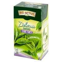 BIG-ACTIVE Zielona herbata Earl Grey z bergamotką (20 tb.)