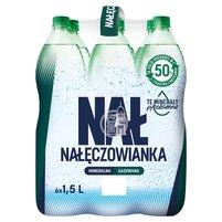 Nałęczowianka Naturalna woda mineralna gazowana 6 x 1,5 l