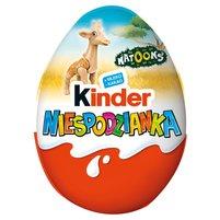 KINDER Niespodzianka Słodkie jajko z niespodzianką pokryte czekoladą mleczną