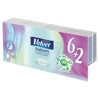 VELVET Balsam Chusteczki higieniczne o kremowym zapachu (8 x 10 szt.)