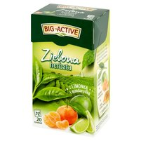BIG-ACTIVE Zielona herbata z limonką i mandarynką (20 tb.)