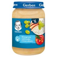 GERBER Winogrona i jabłuszka z twarożkiem dla niemowląt po 6. m-cu