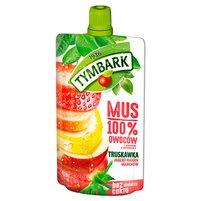 TYMBARK Mus 100% truskawka jabłko banan marchew