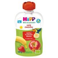 HiPP BIO HiPPiS Jabłka-Truskawki-Banany Mus owocowy po 6. m-cu