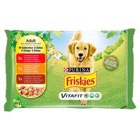 FRISKIES Vitafit Adult w galaretce Karma dla dorosłych psów (4 x 100 g)
