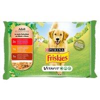 FRISKIES Vitafit Adult w sosie Karma dla dorosłych psów (4 x 100 g)