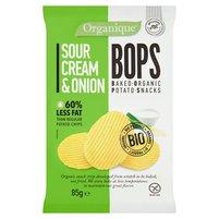ORGANIQUE Ekologiczne pieczone chipsy ziemniaczane o smaku śmietankowo-cebulowym