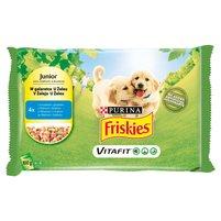 FRISKIES Vitafit Junior Karma dla psów z kurczakiem i groszkiem w galaretce (4 x 100 g)