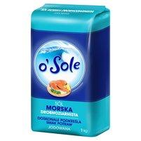 O'SOLE Sól morska drobnoziarnista jodowana