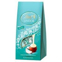LINDT Lindor Kokosowa Pralinki z czekolady mlecznej z nadzieniem