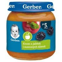GERBER Krem z jabłek i suszonych śliwek dla niemowląt po 5. m-cu