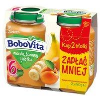 BOBOVITA Morele banany i jabłka po 6. m-cu (2 x 190 g)