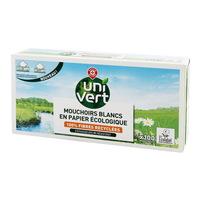 WIODĄCA MARKA Uni Vert Ekologiczne chusteczki higieniczne białe 3-warstwowe