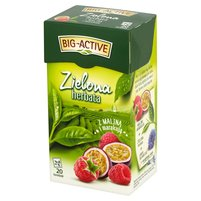 BIG-ACTIVE Herbata zielona z maliną z marakują (20 tb.)
