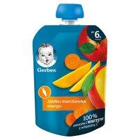 GERBER Deserek jabłko marchewka mango dla niemowląt po 6. m-cu