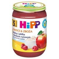HiPP BIO Owoce & Zboża Maliny i jabłka z kleikiem ryżowym po 5. m-cu