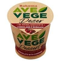 BAKOMA Ave Vege Deser na kremie kokosowym smak czekolada z wiśniami