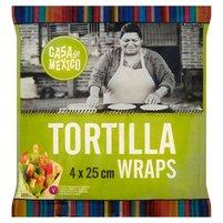 CASA DE MEXICO Tortilla wrap 25 cm (4 sztuki)