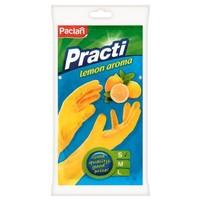 PACLAN PRACTI RĘKAWICE GUMOWE LEMON AROMA S