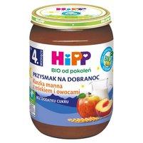 HiPP BIO Przysmak na Dobranoc Kaszka manna z mlekiem i owocami po 4. m-cu