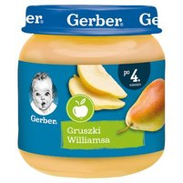 Gerber Gruszki Williamsa dla niemowląt po 4. miesiącu 125 g