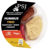 PSJ Hummus Trio tradycyjny burak pomidor