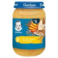 GERBER Gruszki mango i trzy zboża dla niemowląt po 8. m-cu
