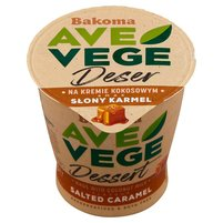 BAKOMA Ave Vege Deser na kremie kokosowym smak słony karmel